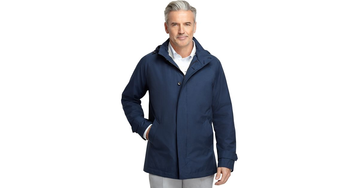 Lyst Brooks Brothers Spring Rain Jacket In Blue For Men