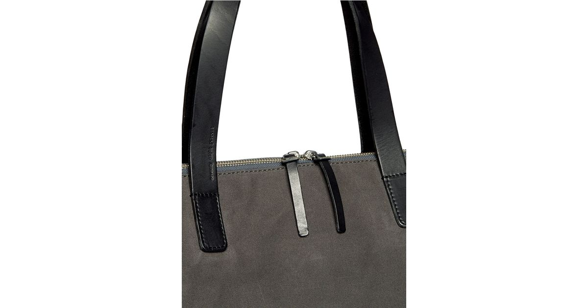 Seventy eight percent Eli Oversized Canvas Tote in Gray for Men | Lyst