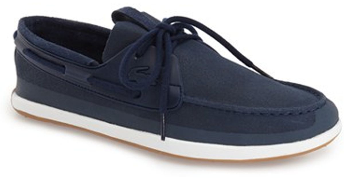 5adc19be5 Lacoste Sport Land Sailing Deck Shoes Navy - Style Guru  Fashion ...