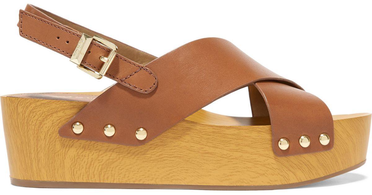 f058d29b2 Sam Edelman Bentlee Leather Platform Sandals in Brown - Lyst