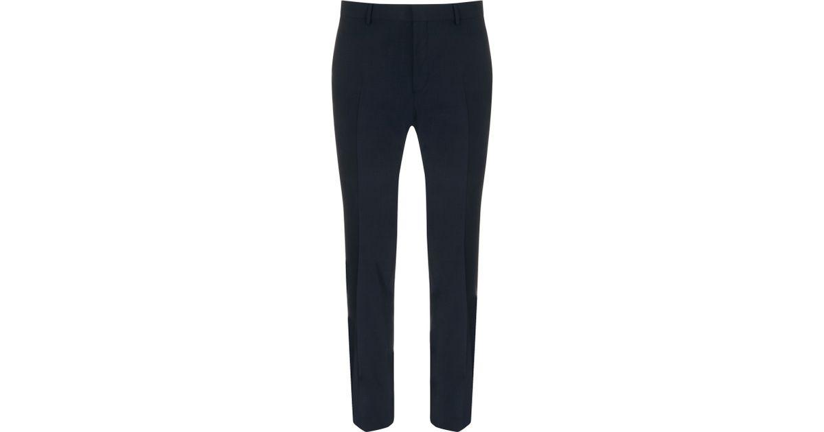 c681f405cf1 CK Calvin Klein - Blue Plain Weave Wool Suit Trousers for Men - Lyst