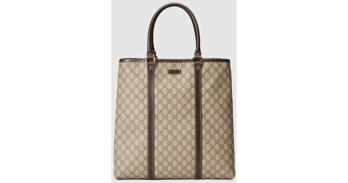 8e16283cd7a Lyst - Gucci Gg Plus Tote in Natural for Men