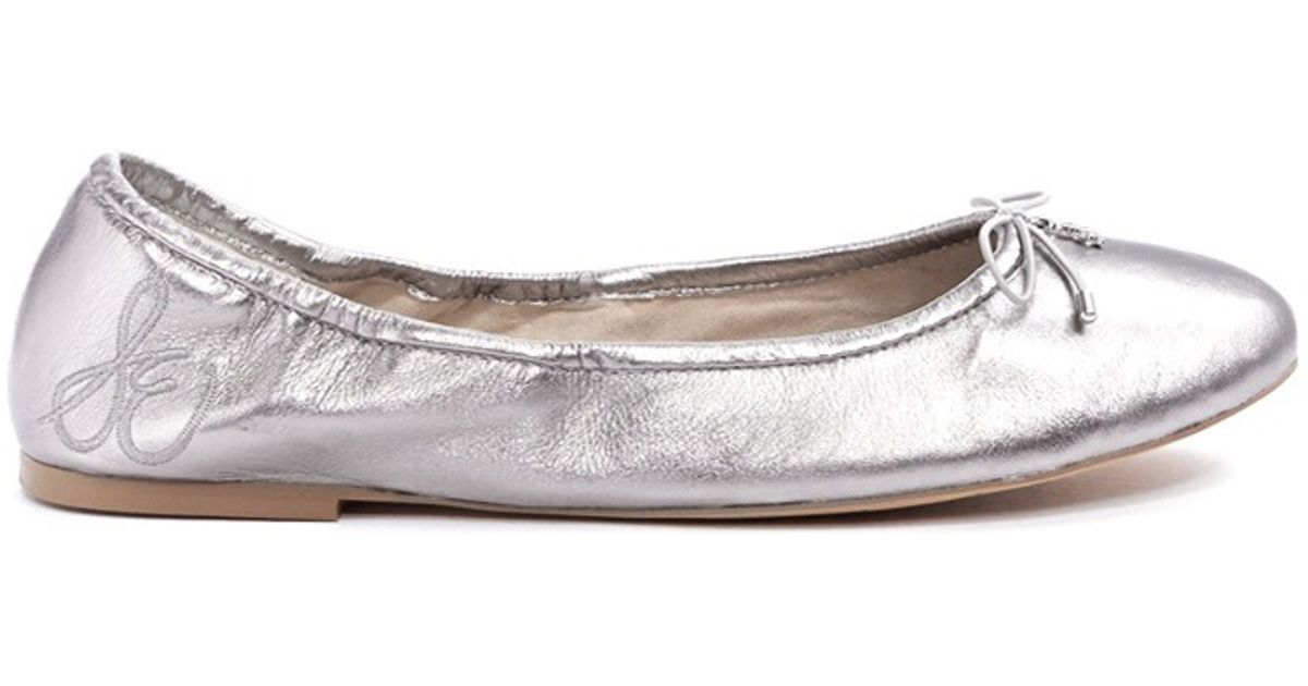 Felicia Metallic Leather Flats CNom2D29