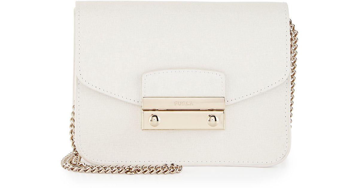 67a55682c9e2 Lyst - Furla Julia Mini Leather Crossbody Bag in Pink
