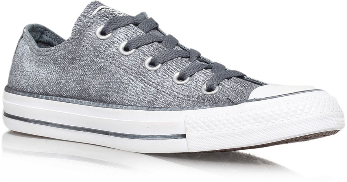 90987b47fe8d ... hot lyst converse grey sparkle wash chuck taylor all star low trainers  in gray 05505 74b9b