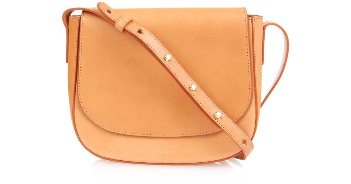 hot-selling shop latest style of 2019 Mansur Gavriel Orange Leather Cross-Body Bag