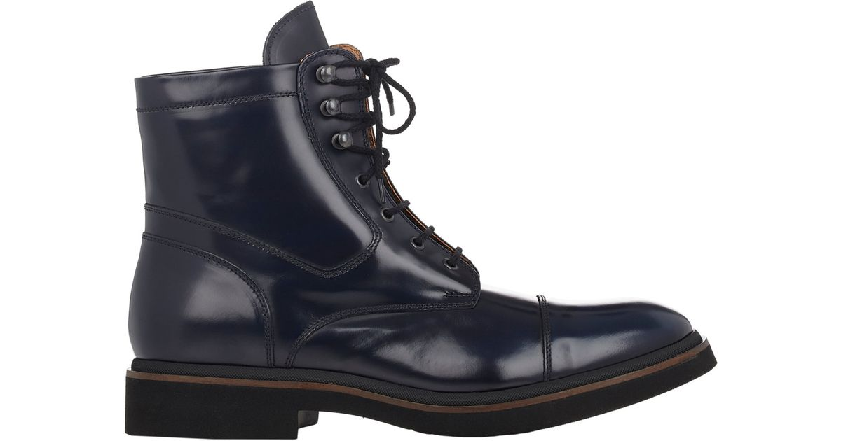 3c6aa12eb67 Doucal's Spazzolato Cap-Toe Boots-Blue Size 7 for men