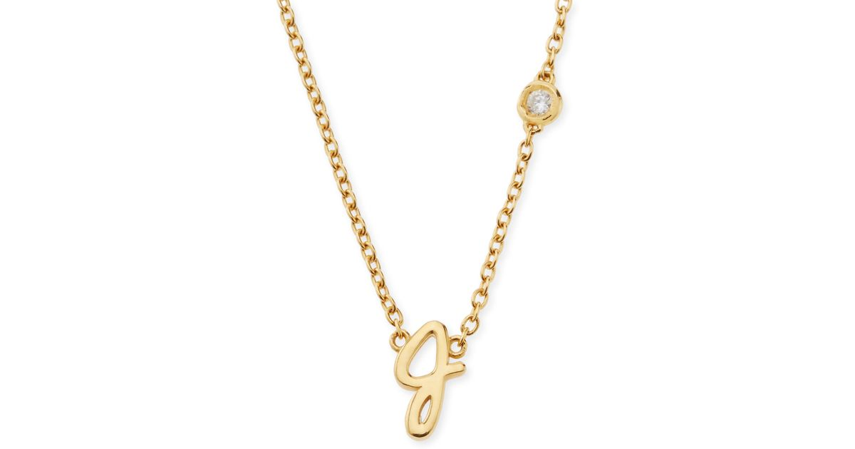 Lyst shy by sydney evan j initial pendant necklace with diamond in lyst shy by sydney evan j initial pendant necklace with diamond in metallic aloadofball Image collections