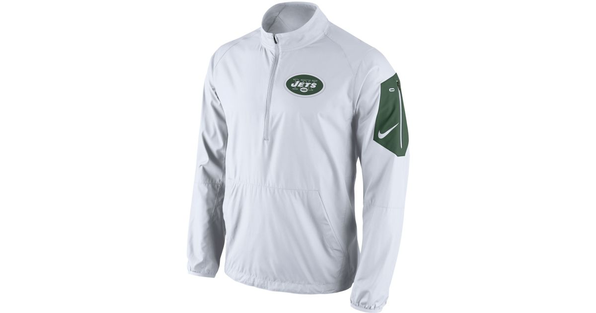 1dbc909c Nike White Men's New York Jets Lockdown Half-zip Jacket for men