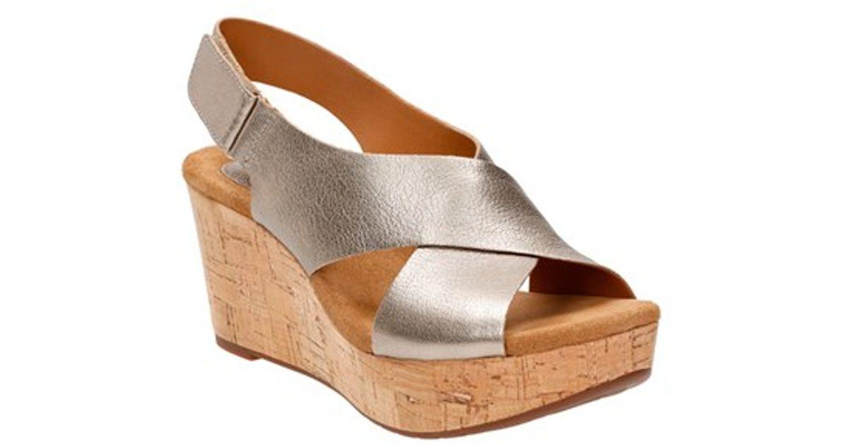 Clarks Caslynn Shae Women's Wedge Heels Sandals 5466