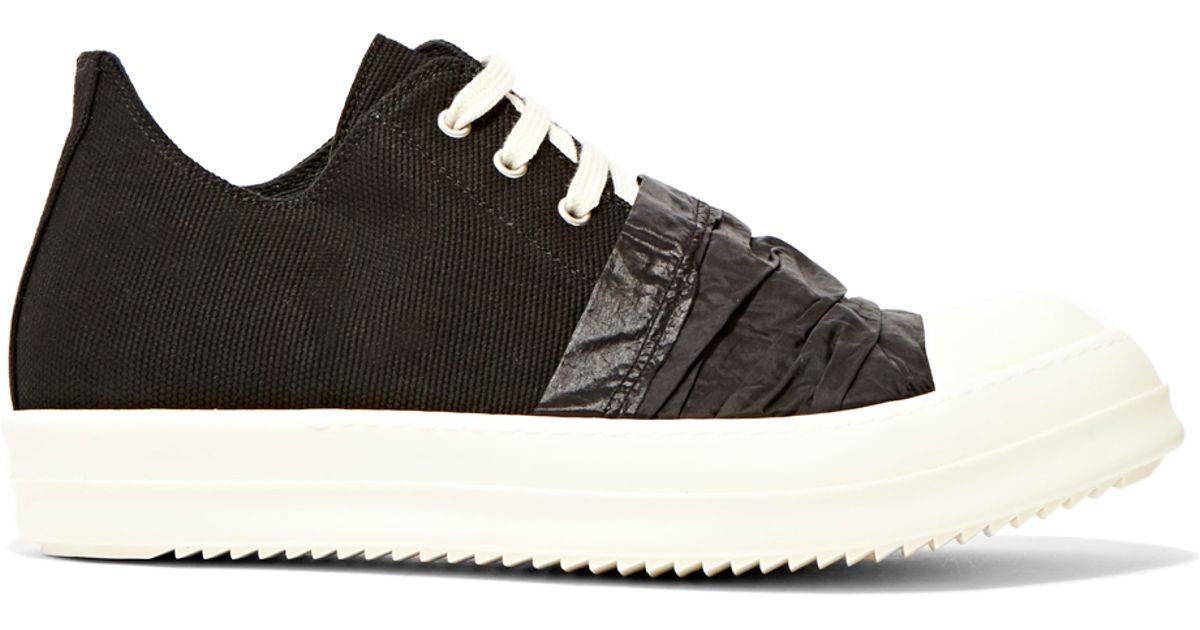 lyst drkshdw by rick owens canvas hustler sneakers in black for men