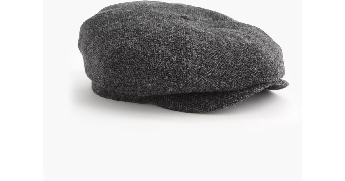 d76d84d66 J.Crew Gray English Wool Newsboy Cap for men