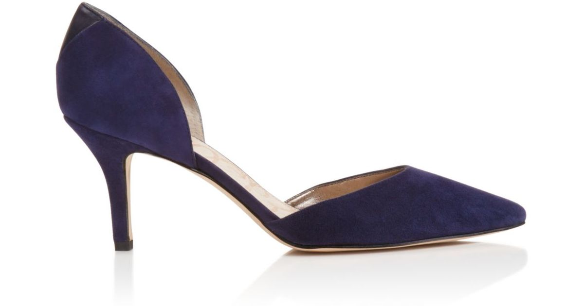 release info on reasonably priced good looking Sam Edelman Blue Opal Pointed Toe D'orsay Pumps