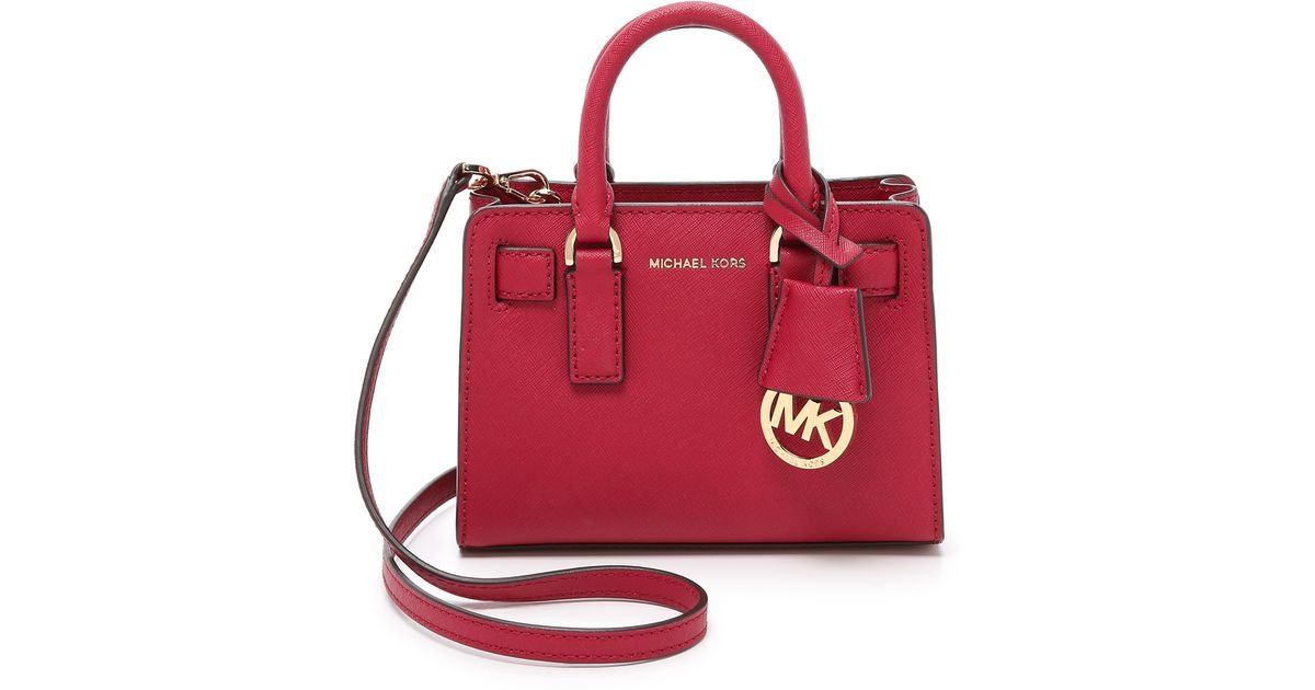 5d869ce85d16 MICHAEL Michael Kors Dillon Extra Small Cross Body Bag in Red - Lyst