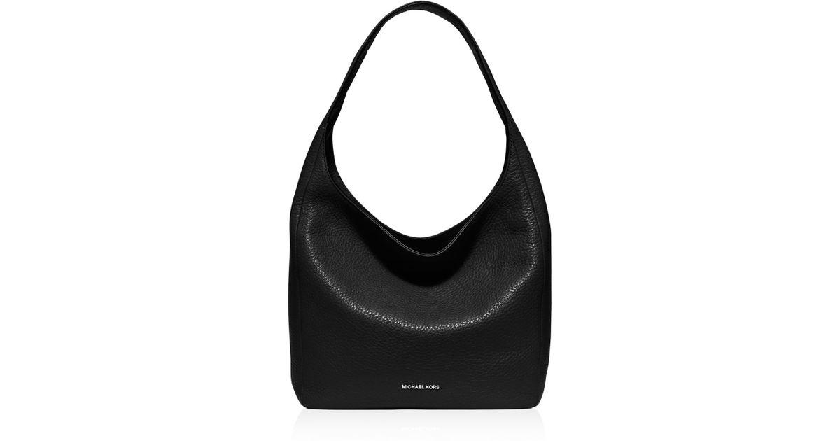 0fe06db0d646 Lyst - MICHAEL Michael Kors Large Lena Shoulder Bag in Black