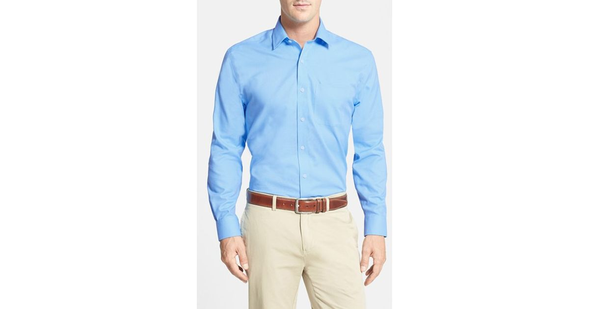 Cutter buck 39 epic easy care 39 classic fit wrinkle free for How do wrinkle free shirts work
