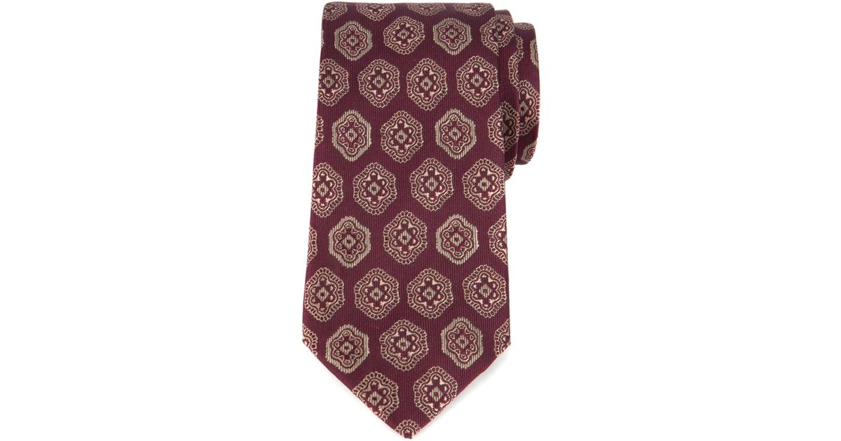 e6211dd9c60148 Lyst - Ted Baker Halland Geometric Classic Tie in Red for Men