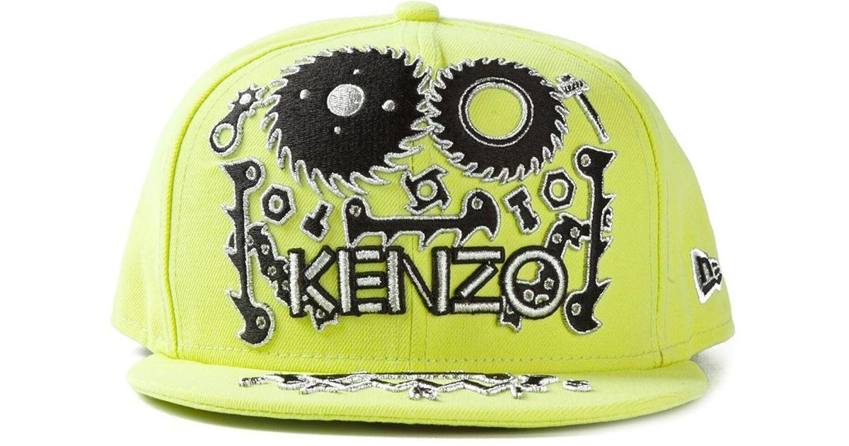 Lyst - KENZO Monster New Era Cap in Green for Men 8aad43601b2