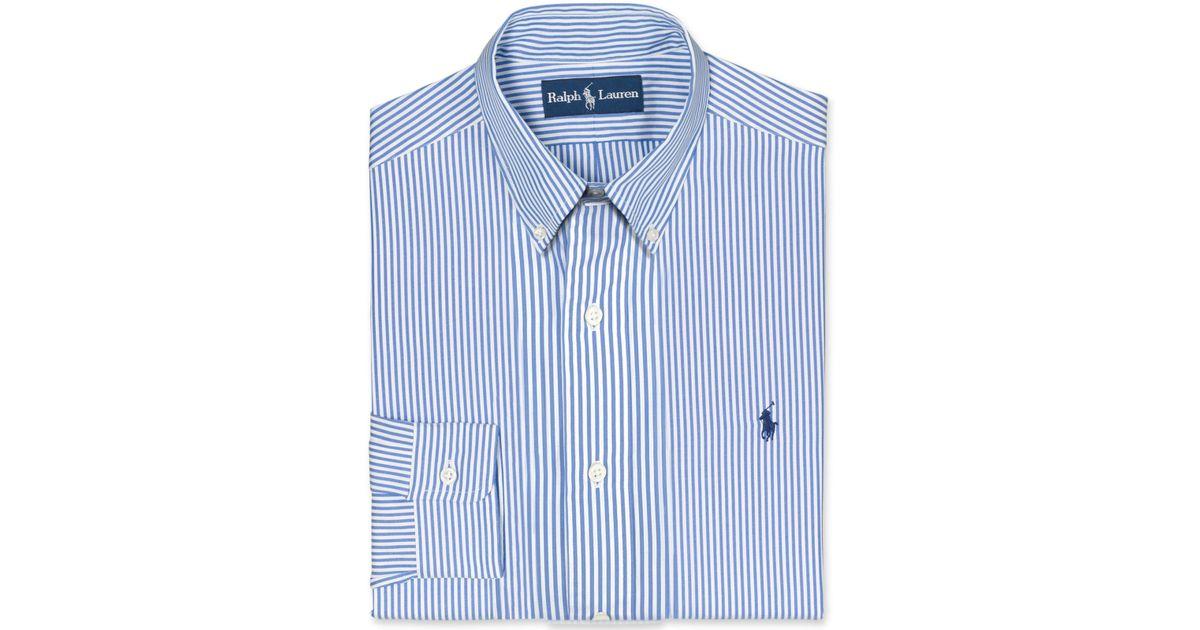 Polo Ralph Lauren Blue Core Custom Fit Broadcloath Dress Shirt for men