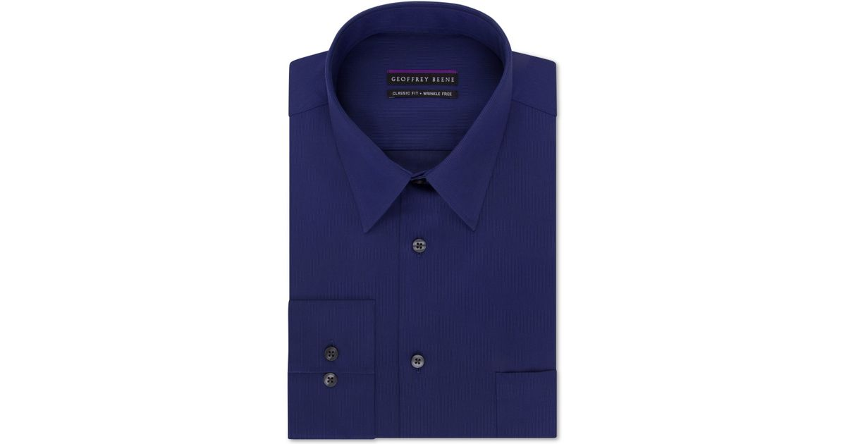 Geoffrey beene non iron big and tall bedford cord solid for Dress shirts for big and tall
