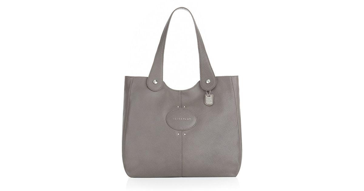 Longchamp Quadri Crossbody Bag Price   Longchamp quadri leather shoulder bag  in black lyst 2c6f2856faca9