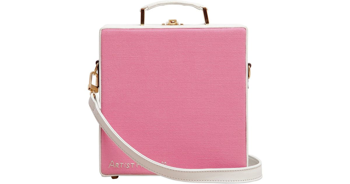 Lyst Olympia Le Tan Little Twin Stars Hand Embroidered Bag In Pink