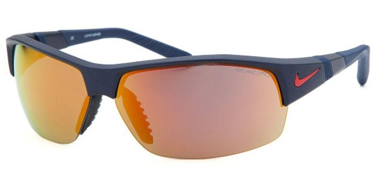 Nike Mens Show X2 Semi-rimless Navy Blue Sunglasses in ...