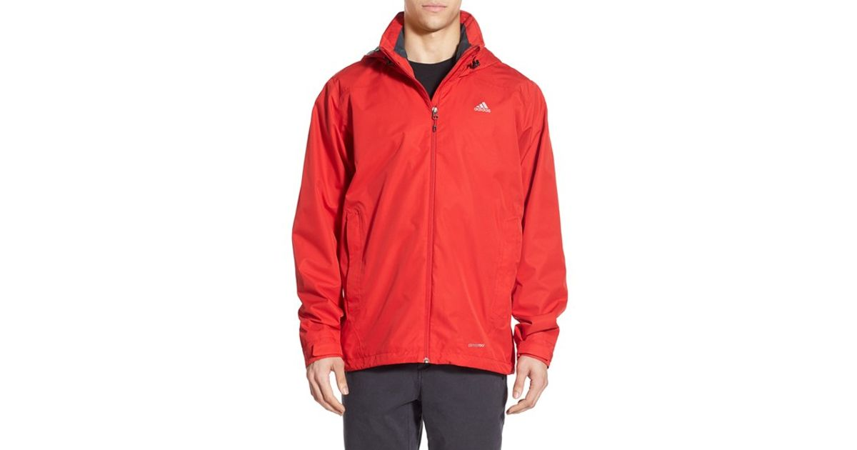 Adidas Originals Red 'wandertag' Climaproof Waterproof Jacket for men