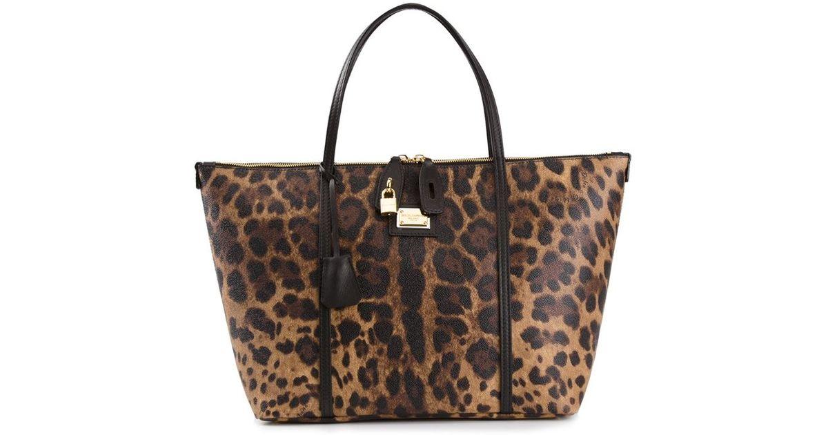7f9440f8a82 Lyst - Dolce & Gabbana 'Escape' Shopper Tote in Brown