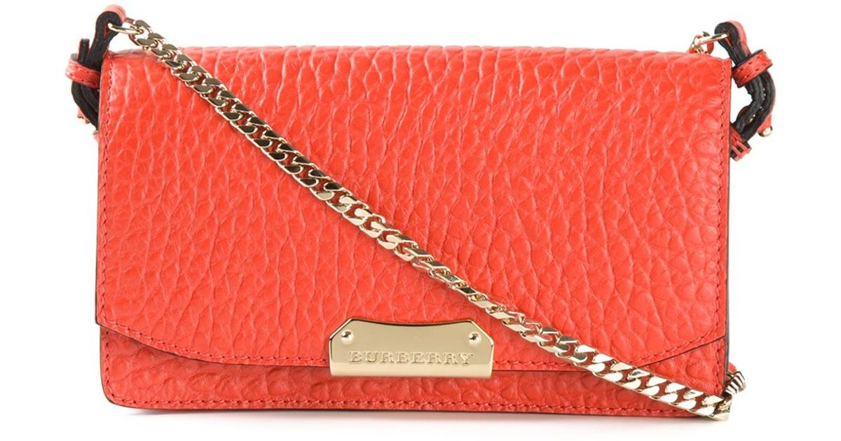 Burberry Pebbled-Leather Cross-Body Bag in Yellow - Lyst a9fa1333d2a29