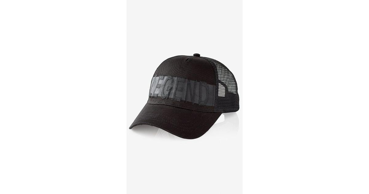 581aa63ee565e Lyst - Express Legend Baseball Hat in Black for Men