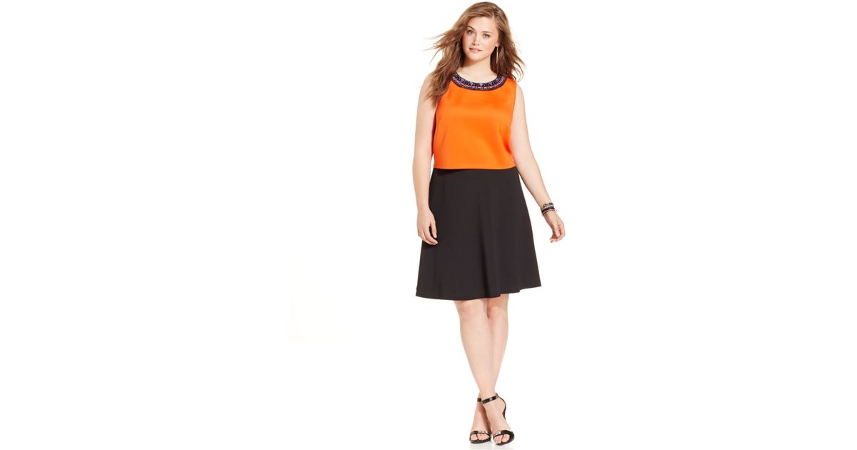 spense plus size matched set cropped top a line skirt in
