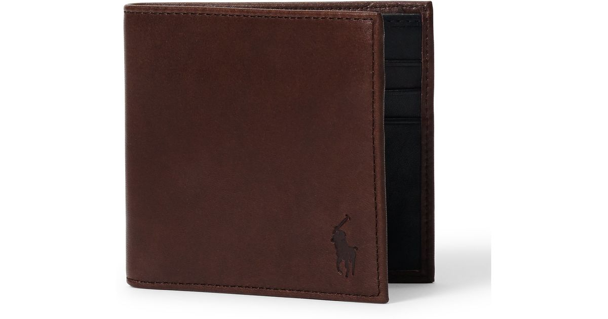 Lyst polo ralph lauren contrasting leather wallet in brown for men colourmoves