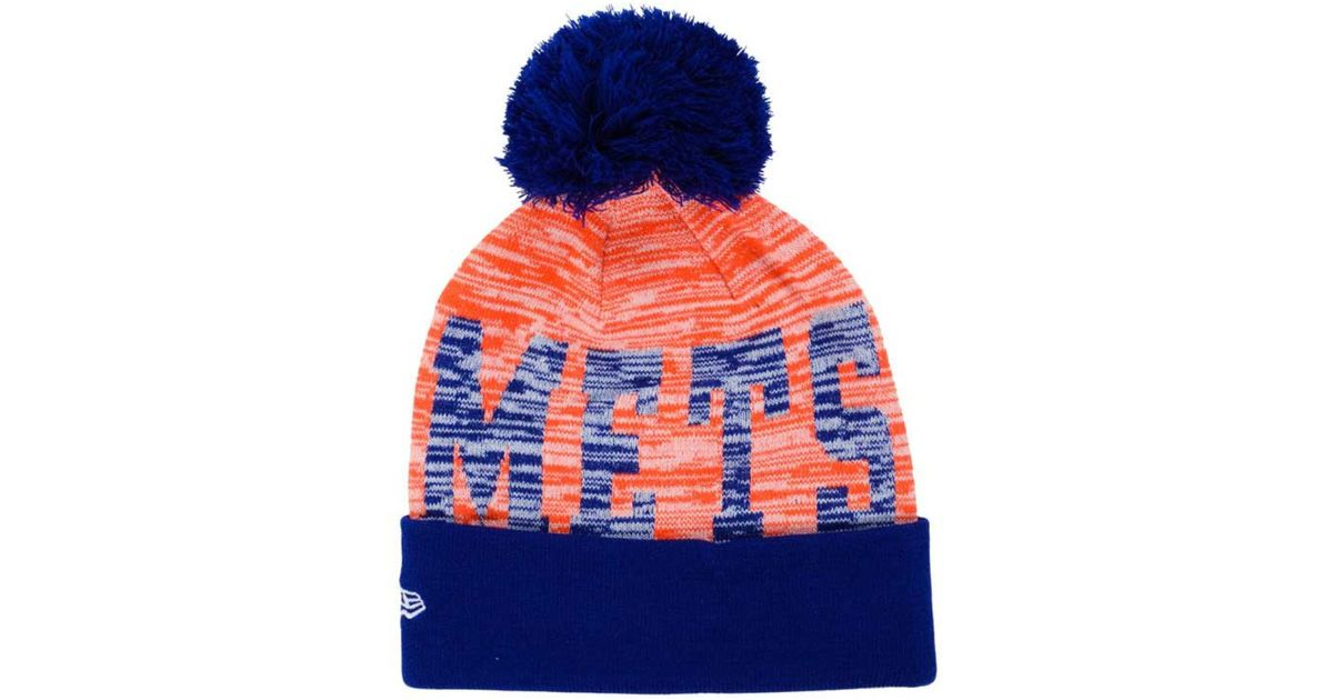 lowest price bbd5c 120f3 ... mlb ice block cuff knit 7b74a 65a3b discount code for lyst ktz new york  mets word fuzz knit hat in orange for men ...