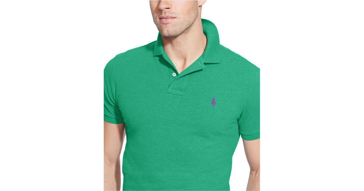 05bdf171 Polo Ralph Lauren Custom-fit Mesh Polo Shirt in Green for Men - Lyst