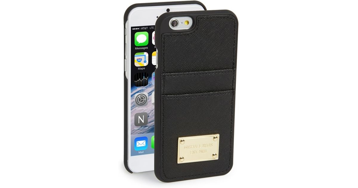 timeless design d8f18 5ac91 MICHAEL Michael Kors Black Card Holder Iphone 6 & 6s Case