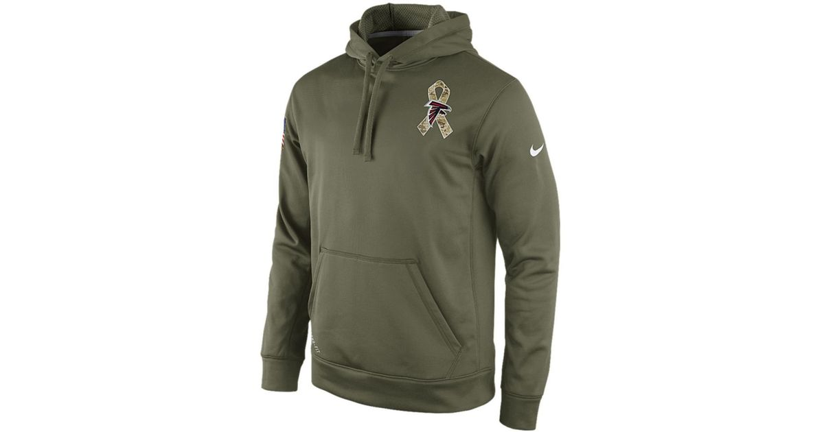 online store 594f1 d43dc Nike Green Atlanta Falcons Nfl Mens Salute To Service Ko Hoodie for men