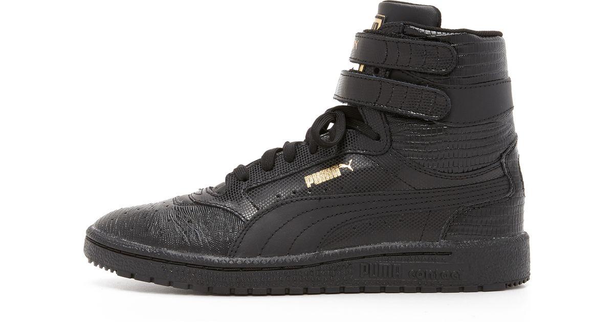 Lyst - PUMA Sky Ii High Top Sneakers in Black 970a21ed3