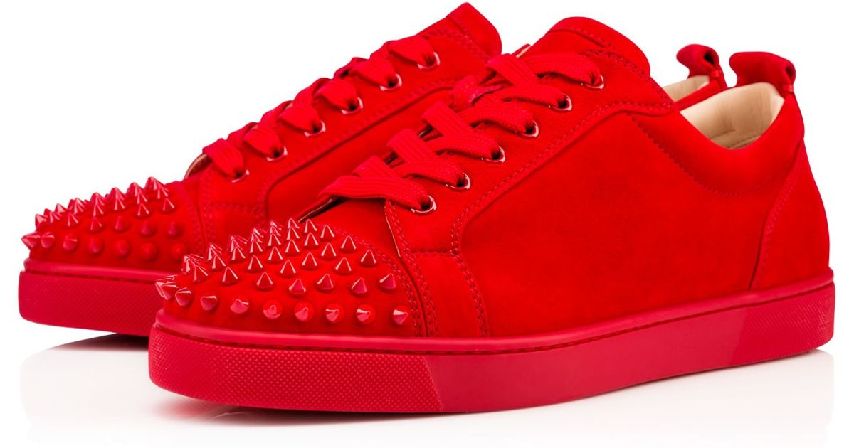 90a1d32a5ed Lyst - Christian Louboutin Louis Junior Spikes Men s Flat in Red for Men