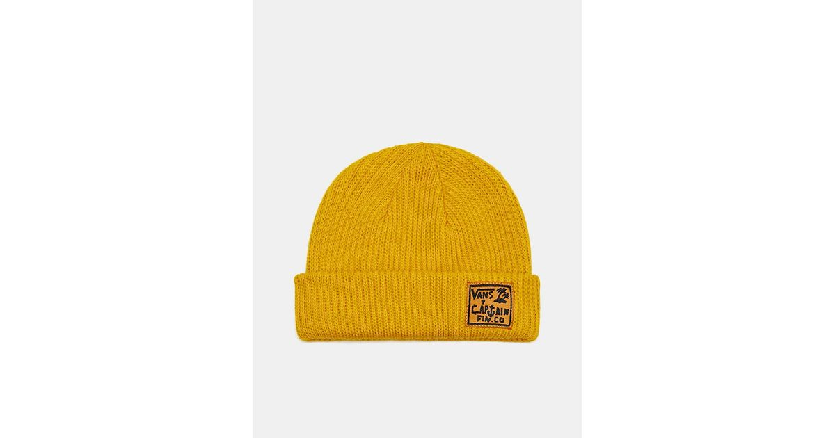 Lyst - Vans Captain Fin X Beanie in Yellow for Men 946cfe8f64a