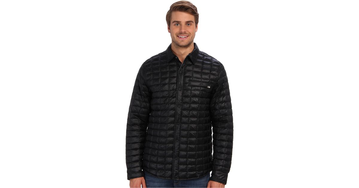 05ccb2fbb The North Face Black Reyes Thermoball™ Shirt Jacket for men