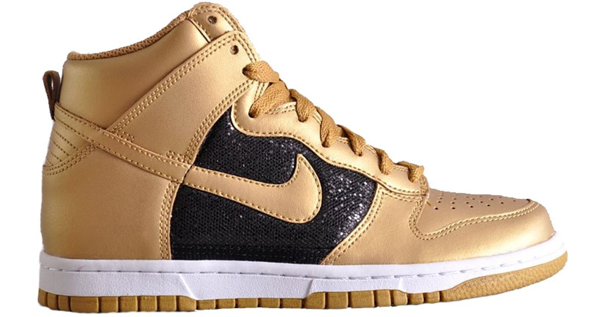 gold and black nike high tops Shop