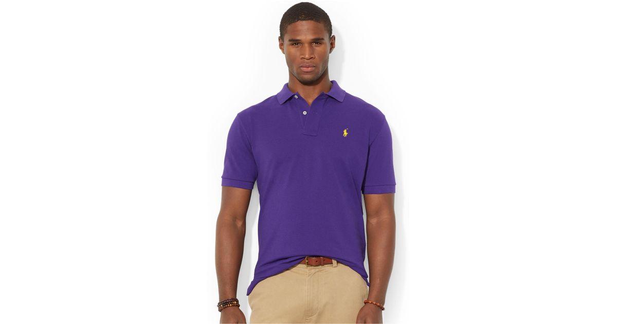 Ralph Lauren Men Mesh V neck Sweaters Purple