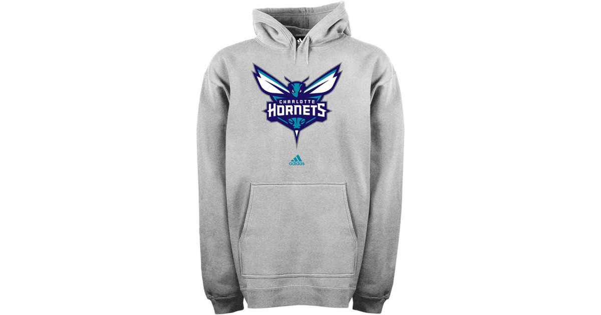 36adf502e65 Lyst - adidas Mens Charlotte Hornets Hoodie in Gray for Men