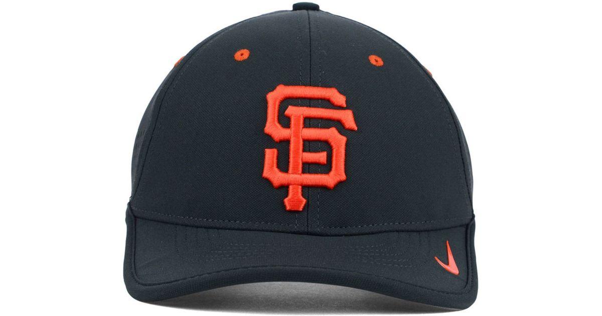 detailing a947b 5706f Nike Gray San Francisco Giants Vapor Swoosh Adjustable Cap for men