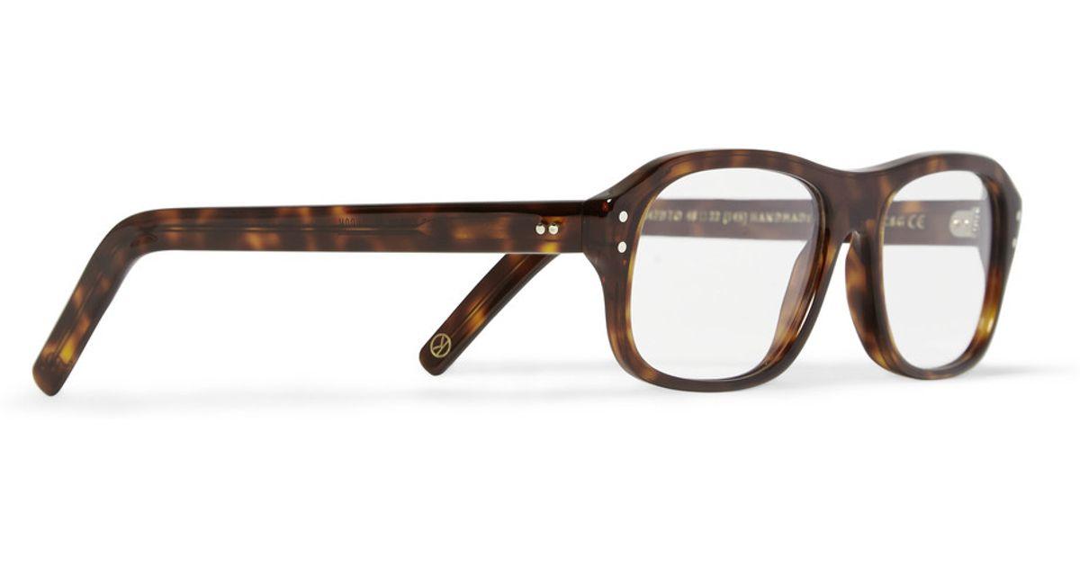 2454849544 Lyst - Kingsman Cutler And Gross Tortoiseshell Acetate Square-Frame Optical  Glasses in Brown for Men