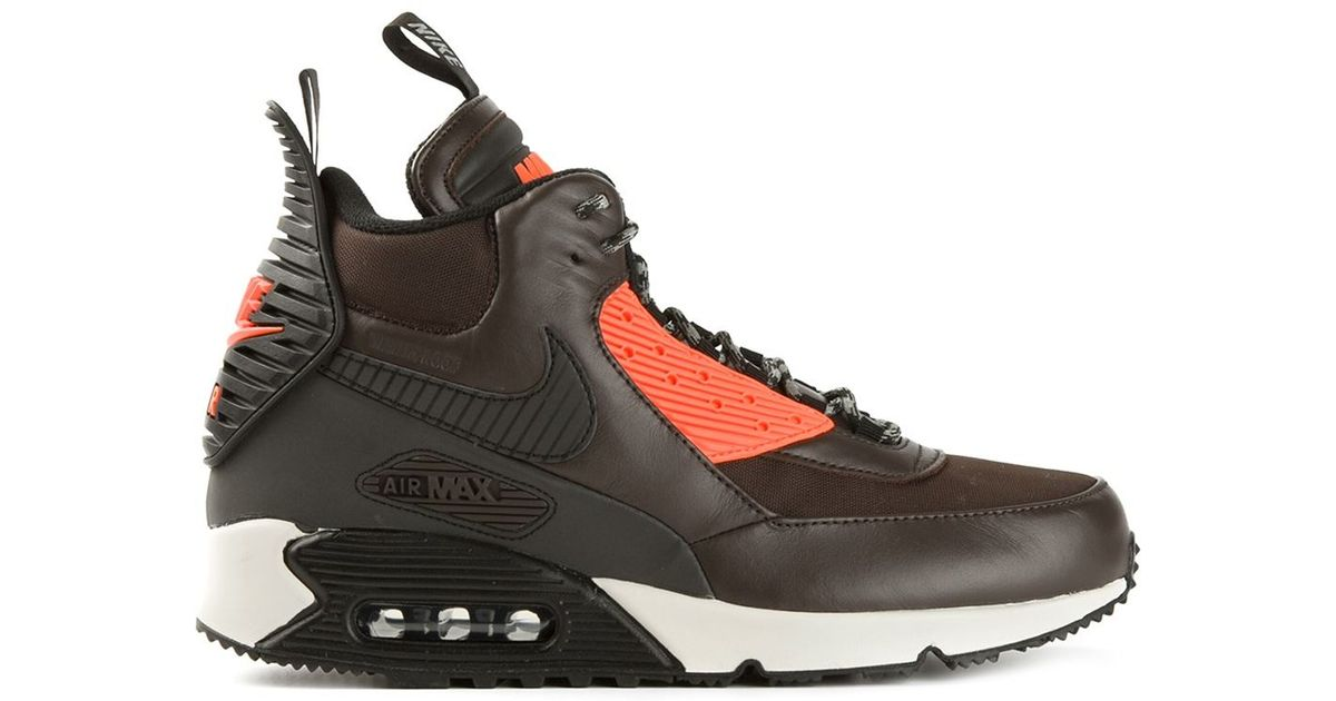 sports shoes 2739a 35b16 Nike Brown Air Max 90 Sneakerboot Winter for men