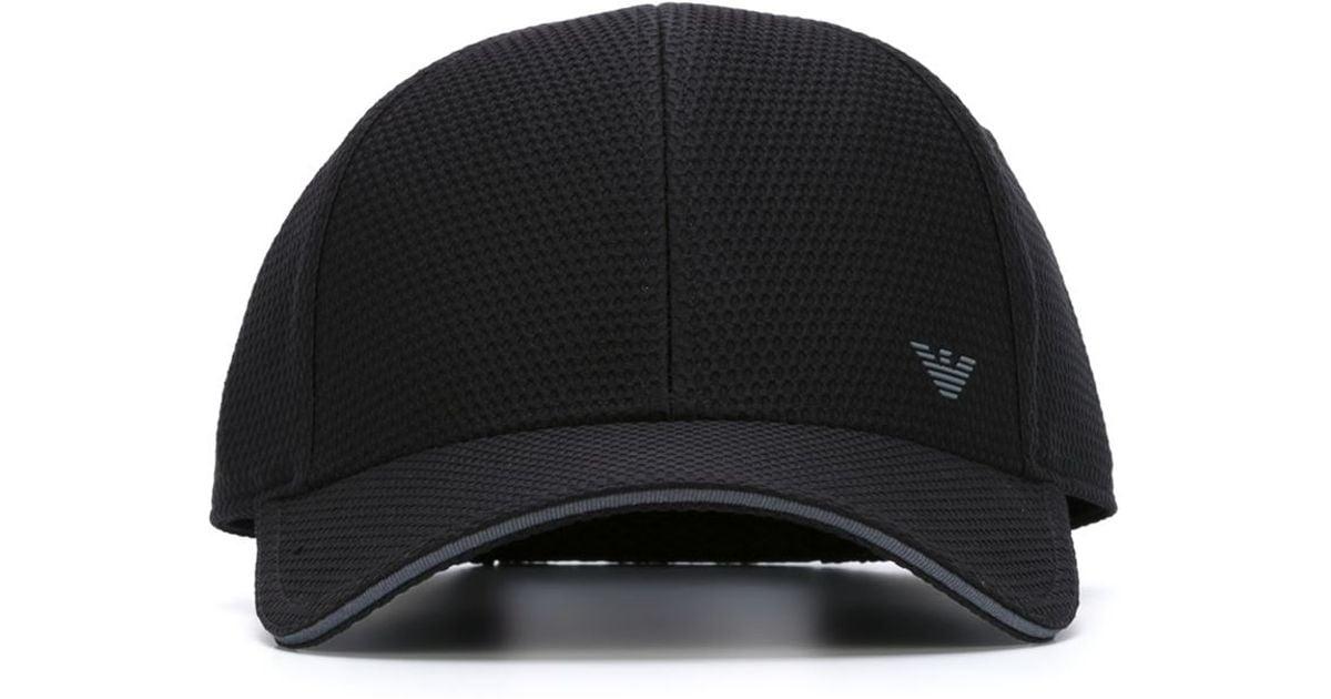 a83a2ce93e6 Lyst - Emporio Armani Logo Baseball Cap in Black for Men
