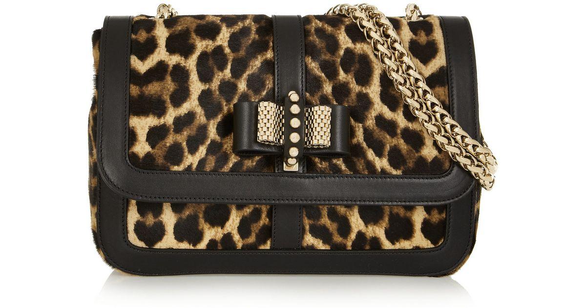 353a71b7cb1c Christian Louboutin Sweet Charity Leopard-Print Calf Hair Shoulder Bag -  Lyst