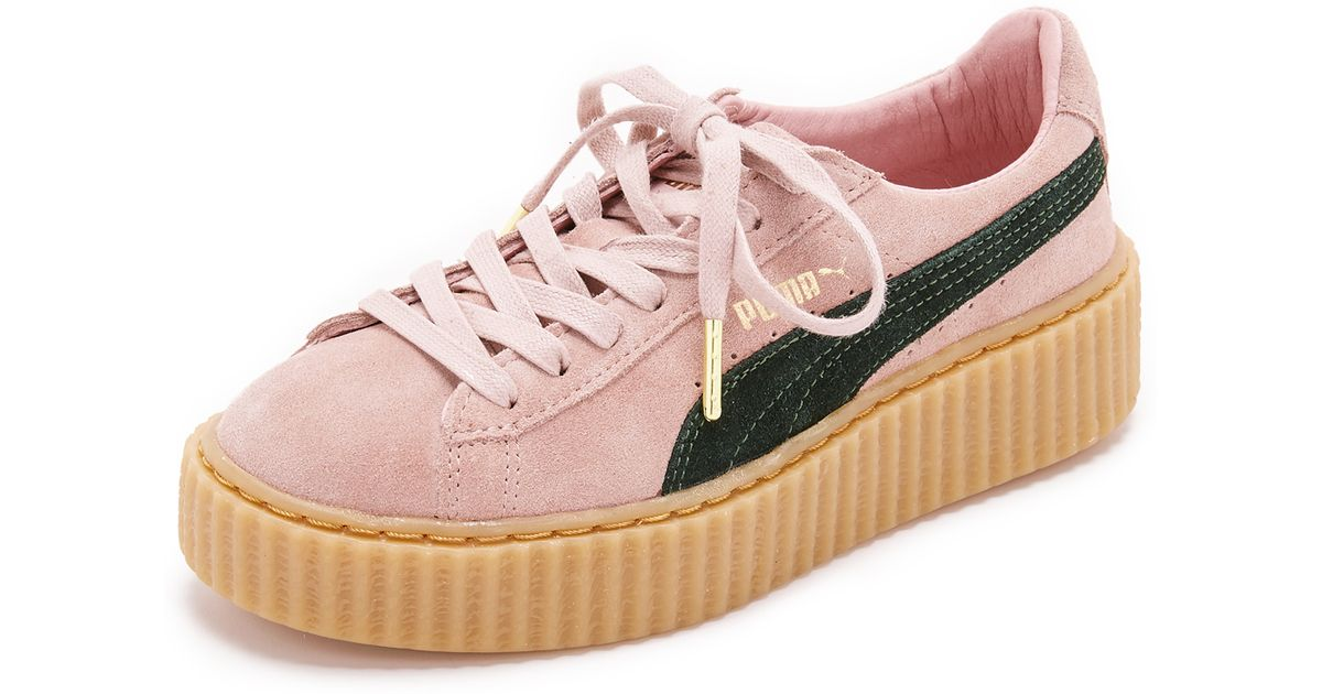 100% authentic f2cd0 04a00 PUMA X Rihanna Creeper Sneakers - Coral Cloud Pink/ultramarine G